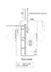 Gevelaldder voor dakluik typ GLB-1