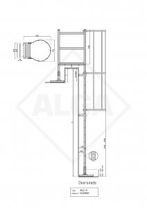Kooiladder KLC-4 met overstap bordes ALGA
