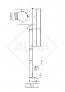 Kooiladder KLB-2 met uitstaptrede ALGA