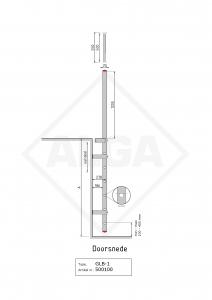 Gevelladder Model GLB 1   ALGA