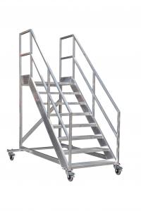ALGA heeft een breed assortiment standaard verrijdbare bordestrappen voor bouw en industrie. Leverbaar van 3 tot 15 treden✓ Maatwerk mogelijk✓ NEN-EN-14122✓