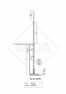 Gevelladder Model GLB 2   ALGA
