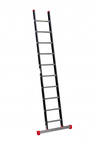 Enkele ladder met stabiliteitsbalk leverbaar van 6 t/m 24 sporten