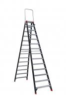 MAMMOET Dubbel Oploopbare Trap 2x14 met inklapbare beugel 210214